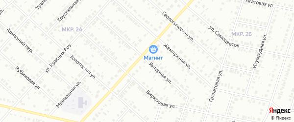 Янтарная улица на карте Нефтекамска с номерами домов