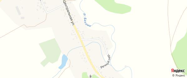 Речной переулок на карте села Базлыка с номерами домов