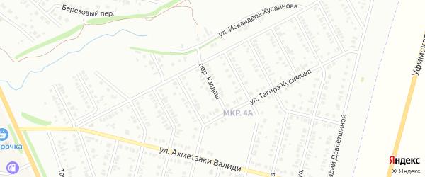 Переулок Юлдаш на карте Нефтекамска с номерами домов