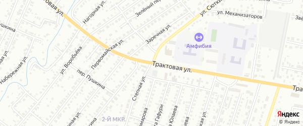Переулок Сюткина на карте Нефтекамска с номерами домов