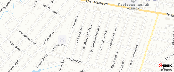 Улица Мажита Гафури на карте Нефтекамска с номерами домов