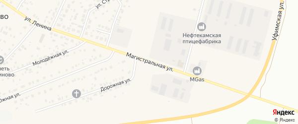 Магистральная улица на карте села Ташкиново с номерами домов