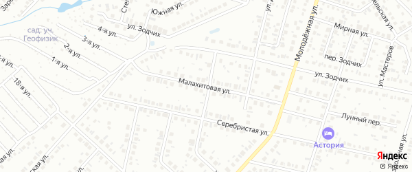 Малахитовая улица на карте Нефтекамска с номерами домов