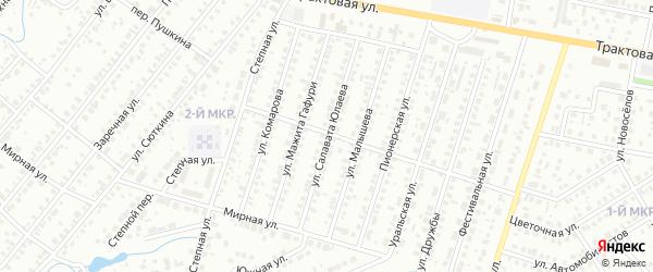 Улица Салавата Юлаева на карте Нефтекамска с номерами домов