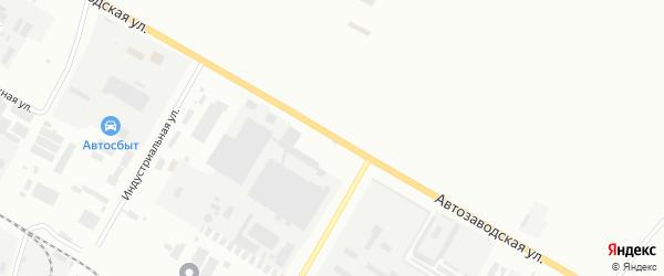 Автозаводская улица на карте Нефтекамска с номерами домов