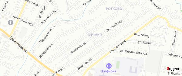 Зеленый переулок на карте Нефтекамска с номерами домов