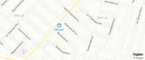 Жемчужная улица на карте Нефтекамска с номерами домов
