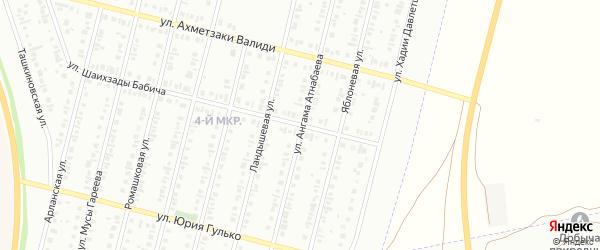 Улица Ангама Атнабаева на карте Нефтекамска с номерами домов