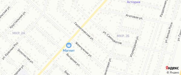 Геологическая улица на карте Нефтекамска с номерами домов