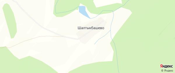 Карта деревни Шалтыкбашево в Башкортостане с улицами и номерами домов