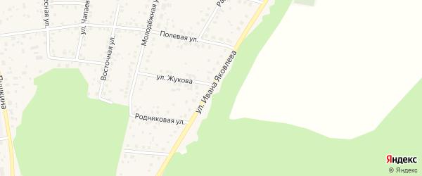 Улица Ивана Яковлева на карте села Бижбуляка с номерами домов