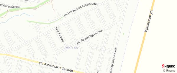 Улица Тагира Кусимова на карте Нефтекамска с номерами домов