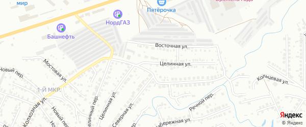 Целинная улица на карте Нефтекамска с номерами домов