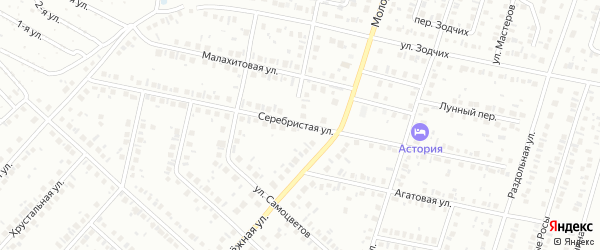 Серебристая улица на карте Нефтекамска с номерами домов