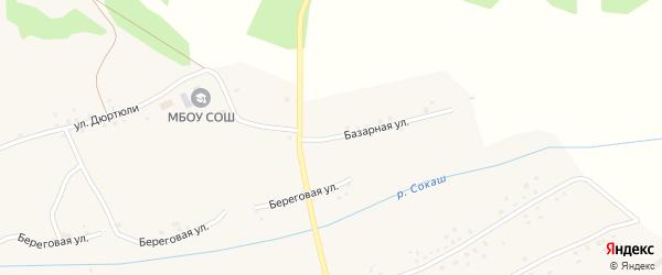 Базарная улица на карте села Резяпово с номерами домов