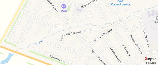 Проспект Жукова на карте села Верхнеяркеево с номерами домов