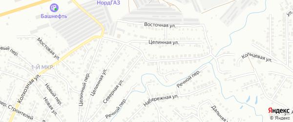 Северная улица на карте Нефтекамска с номерами домов