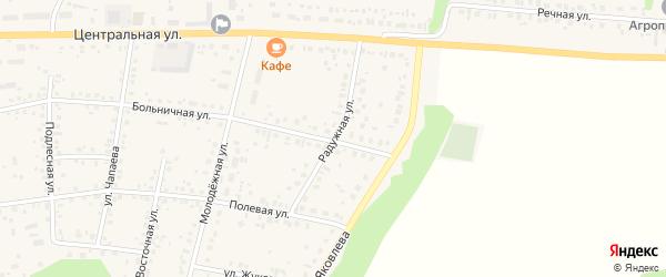 Радужная улица на карте села Бижбуляка с номерами домов