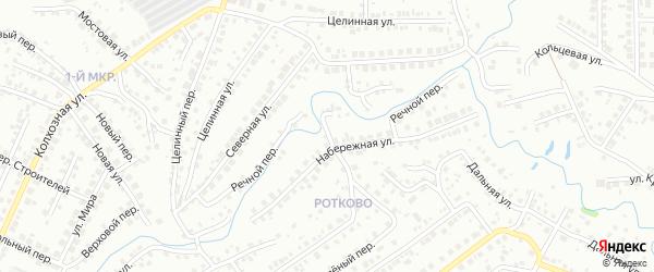 Речной переулок на карте Нефтекамска с номерами домов