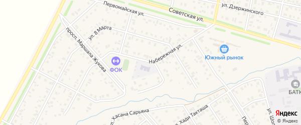 Набережная улица на карте села Верхнеяркеево с номерами домов