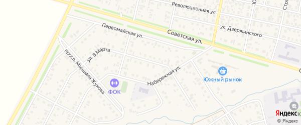 Улица 8 Марта на карте села Верхнеяркеево с номерами домов