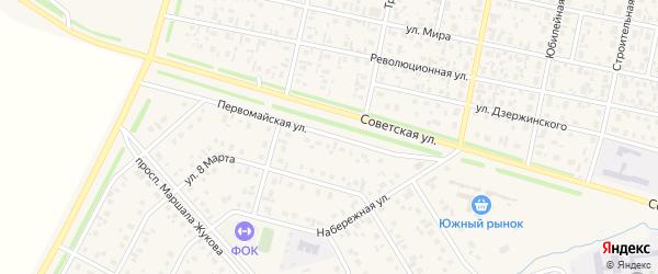 Первомайская улица на карте села Верхнеяркеево с номерами домов