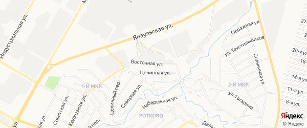 ГСК Искожевец на карте Восточной улицы с номерами домов