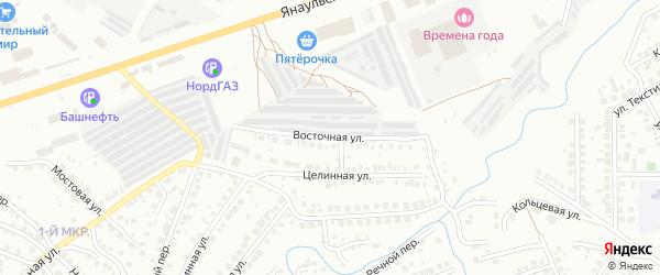 Восточная улица на карте Нефтекамска с номерами домов