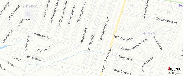 Улица Дружбы на карте СНТ Буя с номерами домов