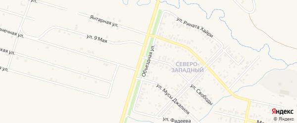 Объездная улица на карте села Верхнеяркеево с номерами домов