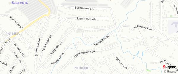 Северный переулок на карте Нефтекамска с номерами домов