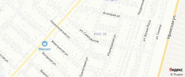 Гранатовая улица на карте Нефтекамска с номерами домов