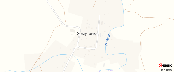 Улица Мира на карте деревни Хомутовки с номерами домов