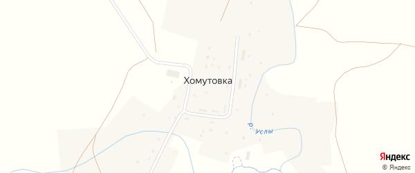 Улица Антоновка на карте деревни Хомутовки с номерами домов