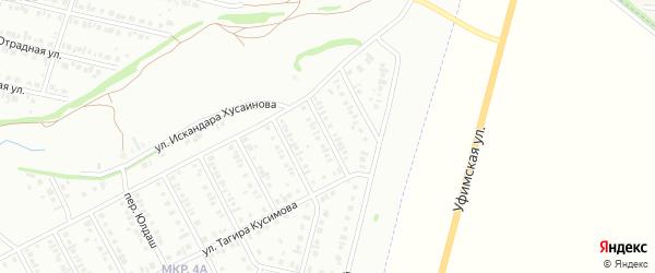 Подснежниковый переулок на карте Нефтекамска с номерами домов