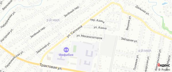 Улица Механизаторов на карте Нефтекамска с номерами домов