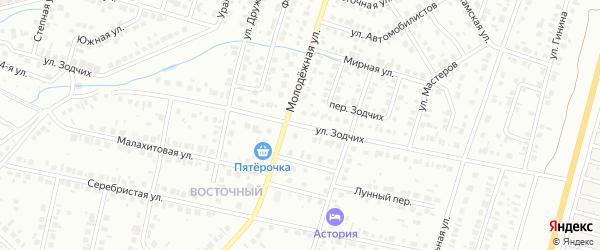 Улица Зодчих на карте Нефтекамска с номерами домов