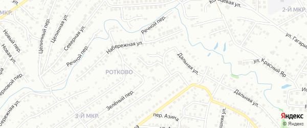 Дальний переулок на карте Нефтекамска с номерами домов