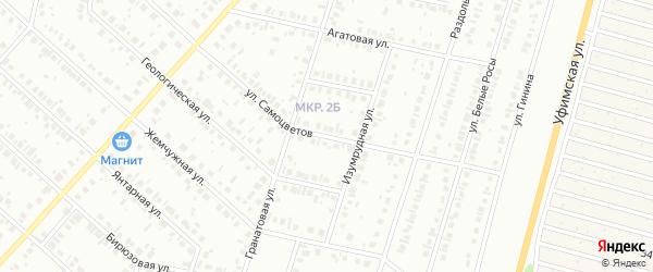 Улица Самоцветов на карте Нефтекамска с номерами домов