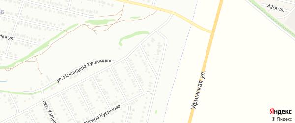 Переулок Влюбленных на карте Нефтекамска с номерами домов
