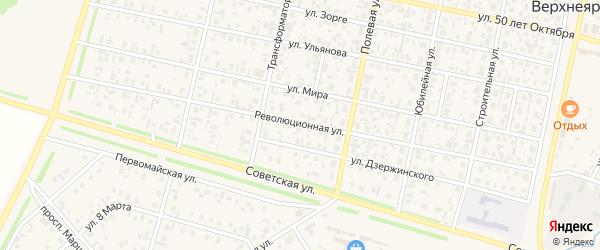 Революционная улица на карте села Верхнеяркеево с номерами домов