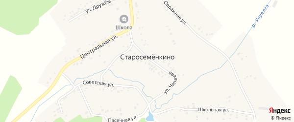 Школьная улица на карте села Старосеменкино с номерами домов