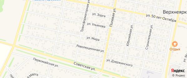 Улица Мира на карте села Верхнеяркеево с номерами домов