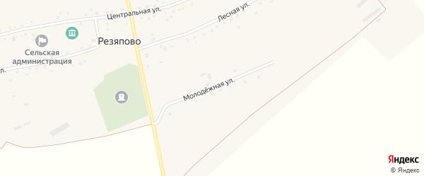 Молодежная улица на карте села Резяпово с номерами домов
