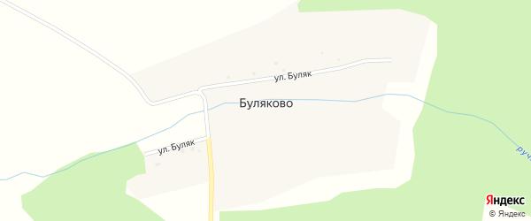 Улица Буляк на карте деревни Буляково с номерами домов