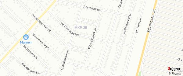 Изумрудная улица на карте Нефтекамска с номерами домов