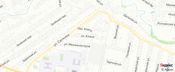 Улица Азина на карте Нефтекамска с номерами домов