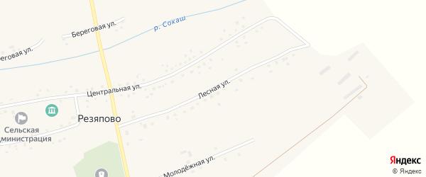 Лесная улица на карте села Резяпово с номерами домов