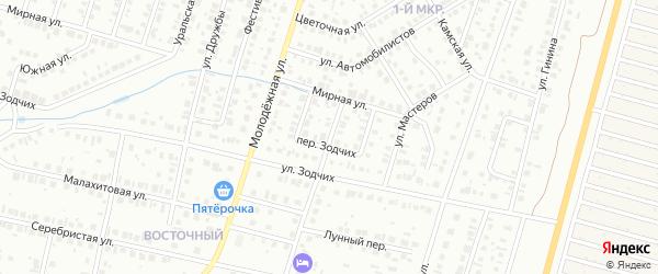 Переулок Автомобилистов на карте Нефтекамска с номерами домов