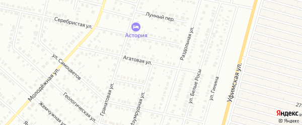Агатовая улица на карте Нефтекамска с номерами домов